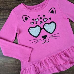 Carter's Pink Leopard Cat Tee Shirt